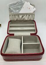 Travel Case - *Rare* Michele Red Saffiano Leather
