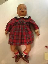 Vintage Efanbee Doll Rubber And Plastic 25 Inches