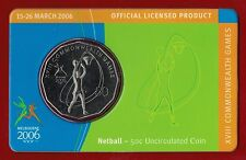 2006 Melbourne XVIII Commonwealth Games 50c Uncirculated Coin - Netball