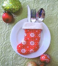 Christmas Cutlery Cosy - Sewing Craft A6 Creative Card PATTERN - Xmas