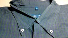 TA8018 ETERNA Blueline Excellent Hemd 45  Blau Grün Kariert Sehr gut
