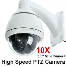 700TVL High Speed 10x Zoom 1/3'' SONY CCD PTZ Dome CCTV MiNi Security Camera