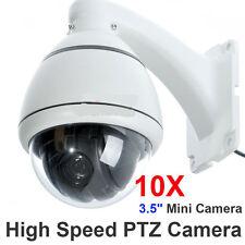 10x Zoom 1/3'' SONY CCD 700TVL High Speed PTZ Dome CCTV MiNi Security Camera SYS