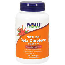 Vitamin A, Beta-Carotene, Natural, 25000iu 180 Softgels - NOW Foods