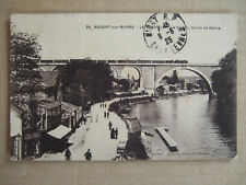 CPA NOGENT SUR MARNE (94) LE PERREUX. LE VIADUC, BORDS DE MARNE. ANIMEE. TRAIN