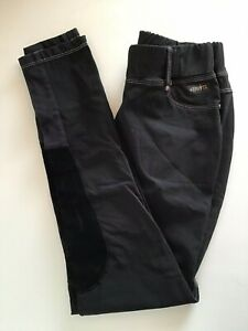 Kerrits riding breeches patch knee black  Large