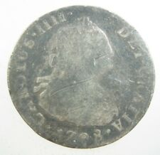 Peru Spanish 2 Reales 1798 Ij Silver Sharp #Y Peruana Lima Spain Carolus 4 Coin