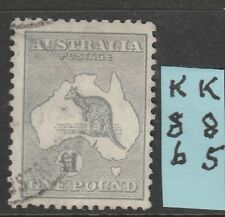 Roos  1 Pound Grey cofa Wmk  VFU  L%$K K85