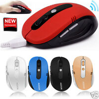 2.4GHz Wireless Rechargeable 2400DPI 6 Button Optical Game Mouse Mice for Laptop