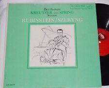 RUBINSTEIN SZERYNG Beethoven Kreutzer & Spring VG++ 3s/4s LP RCA LM-2377