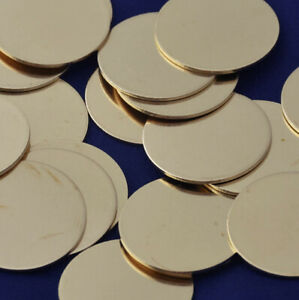 20 PCS Metal Stamping Blanks Round Brass Tags 18mm Diameter for DIY Jewellery