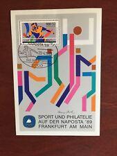 GERMANY BRD FRD 1989 USED FUR DEN SPORT TABLE TENNIS MINISHEET FRANKFURT RARE