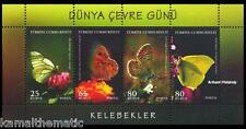 Turkey 2009 MNH SS, World Environment Day, Butterflies, Insects (J12)