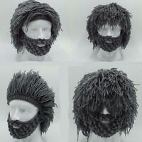 Black Beard Warm Hat Barbarian Looter Crochet Beanie Cap Schnurrbart Cosplay New