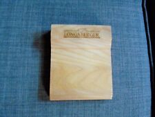 Longaberger Baskets Wooden Post It Holder - Rare Collectible!