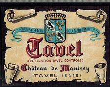 Etiquette de Vin -Tavel - Chateau De Manissy - Gard - Réf.n°336