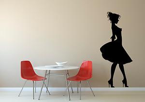 Beautiful Woman Dress Silhouette Home Wall Art Decal Sticker O5
