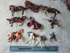 Lot of Papo Horses from 2000-2002 Medieval Times Fantasy Knight Figure Lot