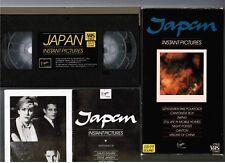 JAPAN Instant Pictures David Sylvian JAPAN VHS VIDEO VTM-21 1984 issue Slip Case