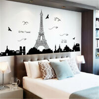 Removable Paris Eiffel Tower Art Decal Wall Sticker Mural Bedroom Home Decor