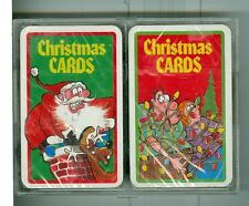 """Two Sealed Decks Playing Cards, """"CHRISTMAS CARDS"""", Christmas Jokes on the faces"""