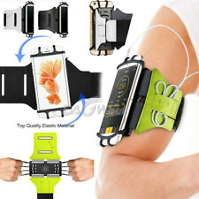 """180° Rotating Sports Running Jogging Gym Armband Arm Band Case For 4"""" - 6"""" Phone"""