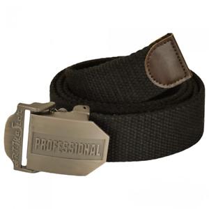 "New Mens Black Work Belt Steel Clip Buckle Adjustable up to 57"" UK Dispatch"