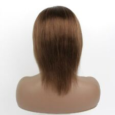 "Half Price! Hard Lace! 8"" Straight #4 100% Human Remy Hair Lace Front Wig"