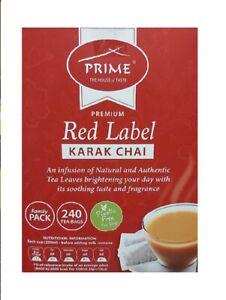Prime Premium Red Label Karak Chai 240 Tea Bags