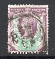 GB = QV 1887 1-1/2d Jubilee stamp, SG198. Used. (02.18.06)