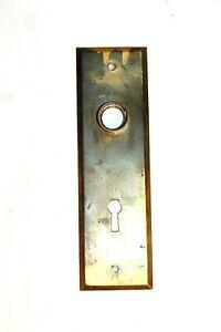 Antique Copper Brass Door Faceplate Backplate 1900s Victorian Hardware Rectangle