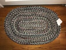 multicolored 22x33 oval braided accent rug perfect for indoor or outdoor