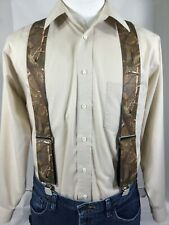 "New, Men's Real Tree Camouflage, 2"", XL, Adj. Suspenders / Braces, Made in USA"