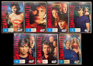 SMALLVILLE Season 1,2,3,4,5,6,7 (DVD R4) - Very Good Condition + Free Postage