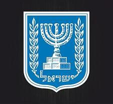 Sticker coat of arms flag car vinyl decal outdoor bumper shield israel