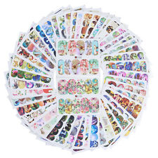 50 Sheets Nail Art Water Decal Flowers Butterfly Dream Catcher Stickers Lot