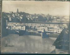 Italie, Florence, Le Ponte Vecchio, ca.1910, vintage silver print Vintage silver