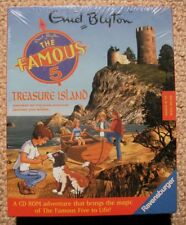 Enid Blyton - The Famous 5 Treasure Island in Box New Sealed - PC Adventure Game