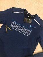 🔥$85 RARE NWT NIKE THERMA CHICAGO MARATHON ELEMENT CREW RUNNING SHIRT MENS M
