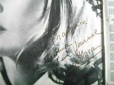 ULTRA RARE DEDICACE JEANNE MOREAU DANS 1 LP Bossa Nova Orig. Press ACTRICE