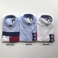 NWT Tommy Hilfiger Men's All Cotton Oxford Botton Down Long Sleeve Causal Shirt