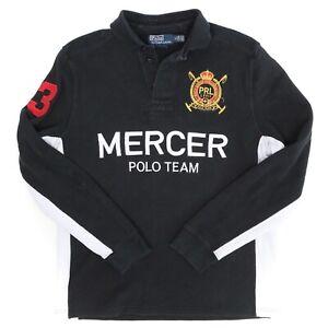 Polo Ralph Lauren Mens Shirt M Black White Mercer Team 3 Winter Challenge Cup