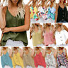 Womens Casual V-Neck Tank Tops Vest Sleeveless Button Shirt Blouse Sexy Camisole