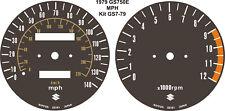 SUZUKI GS550 GS750 SPEEDO TACH REV COUNTER GAUGES CLOCKS OVERLAY KIT
