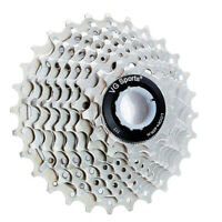 VG Sports 9 Speed 11-25T/28T Road Bike Silver Cassette fit Sram Shimano HG50 US