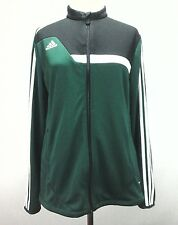 ADIDAS Track Jacket Green Black CLIMACOOL Athletic Yoga Active Women's L $75