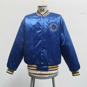 Vintage 90s Golden State Warriors Satin Jacket Size XL Made in USA Swingster
