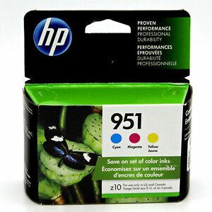 Genuine HP 951 TRI Color Ink Cartridges Cyan Magenta Yellow