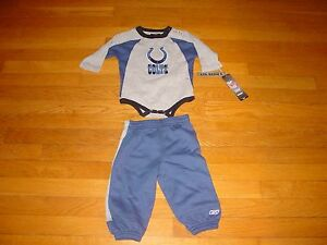 Team NFL REEBOK INDIANAPOLIS COLTS  ONE Piece & PANTS  NEW TAGS INFANT 12 MONTH