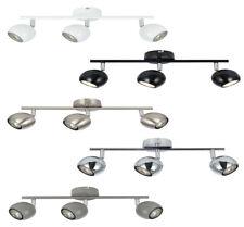 Modern 3 Way GU10 Retro Eyeball Kitchen Ceiling Light Spotlight Fitting LED